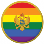 Montenegro Gay Pride Flag 58mm Button Badge